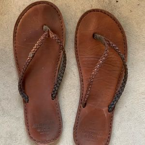 Abercrombie & Fitch Leather Sandals women's 8/8.5